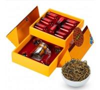 Черный чай Да Хун Пао в подарочной упаковке с сервизом