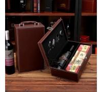Подарочный набор для вина с китайским чаем и аксесуарами