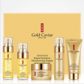 Набор косметики с муцином, гиалуроновой кислотой и 24 каратным золотом